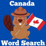 Canada Activity   Canada Word Search   Canada Symbols