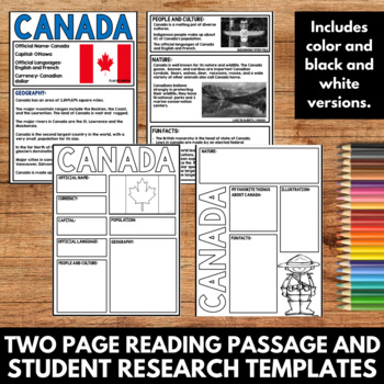 Canada Country Study - Facts and Information about Canada -Guided Research