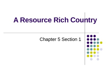 Canada: A Resource Rich Country