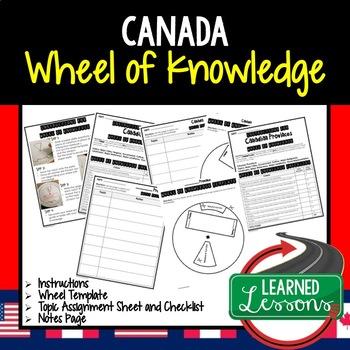 Canada Activity, Wheel of Knowledge (Interactive Notebook)