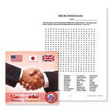 Canada And Its Trading Partners: The 50 United States Word Search - BONUS