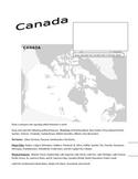 Canada Atlas (Online Research, Map Activities)