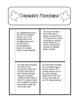 Canada BUNDLE of Interactive, Differentiated, and Guided Notes Unit Plans
