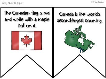 Canada Day Banner and Writing Activity