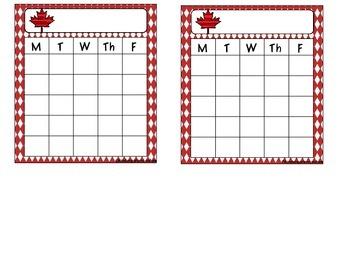 Canada Behavior Sticker Chart -Freebie