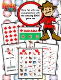 Canada Bingo Matching Activity Set