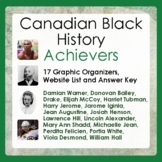 Canada Canadian Black History Biography Research  16 Graphic Organizers and More