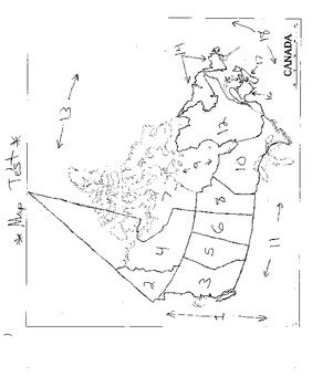 Canada Blank Map & Test