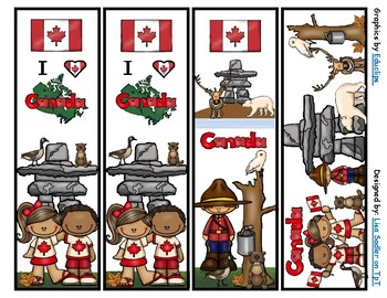 Canada Bookmarks -  4 Designs