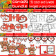Canada Bundle - 3 Cliparts Sets in 1 bundle - 52 Items (Daily Deal)