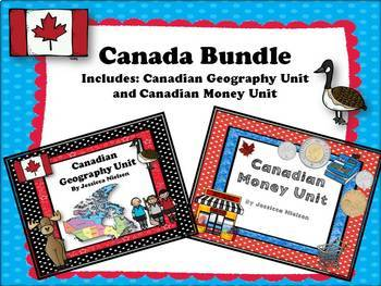 Canada Bundle: Canadian Geography and Canadian Money Unit