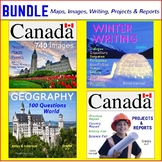 Canada Bundle: Clip Art Posters, Writing Prompts, Maps, Projects & Reports