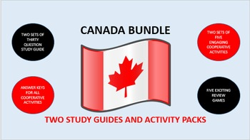 Canada Bundle: Study Guide/Activity Packs