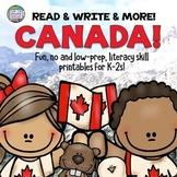 Fun, no-prep early literacy skills   Canada themed digital