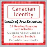Canada! Canadian Identity BUNDLE 4 Resources
