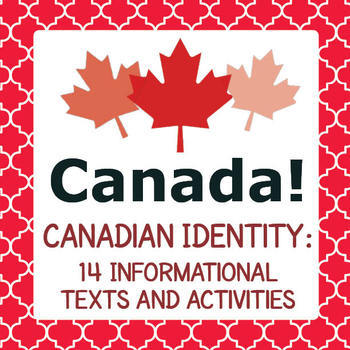 Canada! Canadian Identity BUNDLE 4 Resources