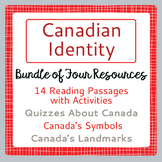 Canada! CANADIAN IDENTITY BUNDLE 4 Resources PRINT and TPT