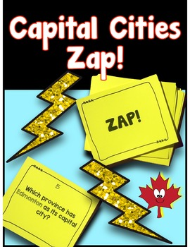 Canada - Capital Cities Zap Game