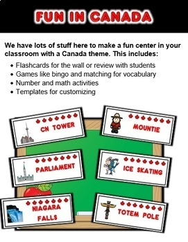 Canada Classroom Center Bundle