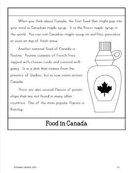 Canada Copywork, Activities, and Country Booklet