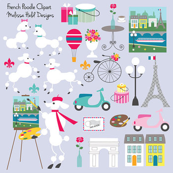 French Poodles Clipart