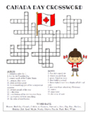 Canada Day Crossword Puzzle