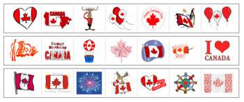 Canada Day Cutting Strips