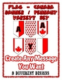 Canada Day Flag Banner Chevron Pennant Bundle - Any Messag