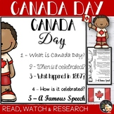 Canada Day Informational Text Flapbook