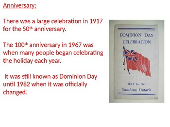 Canada Day - July 1st Power Point - history facts information pictures