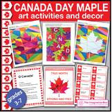 Canada Day Maple Leaf Bumper Art Activities & Classroom De