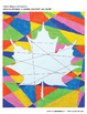 Canada Day Classroom Decor and Maple Leaf Art Worksheet Bumper Activities Pack