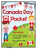 Canada Day Activity Packet