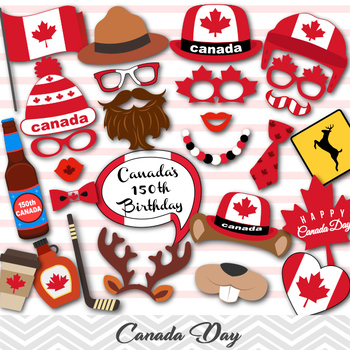 Canada Day Party Photo Booth Props Canada Travel Party Photo Booth