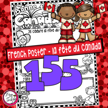 Canada Day Poster & Writing Template • FRENCH