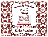 Canada Day ~ Teaching by the Letter Holiday Strip Number Puzzles