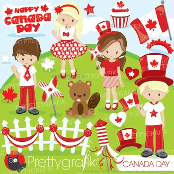 Canada Day clipart commercial use, graphics, digital clip art - CL878