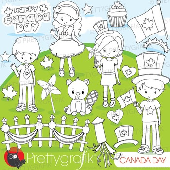 Canada Day stamps commercial use, vector graphics, images - DS878