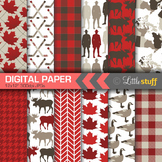 Canada Digital Paper Pack, Canadian Digital Backgrounds, C