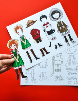 Canadian Dress-Up Paper Doll for Canada Study Unit