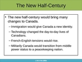 Canada and the 1950s: An Interactive Discussion Based Powerpoint