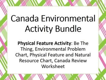Canada Enviornmental Activity Bundle