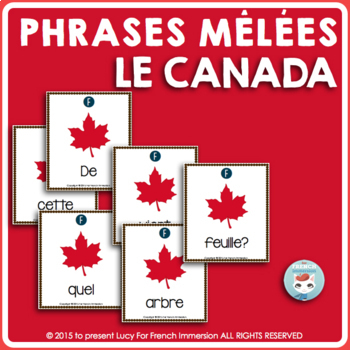 Canada FRENCH Sentence Builders