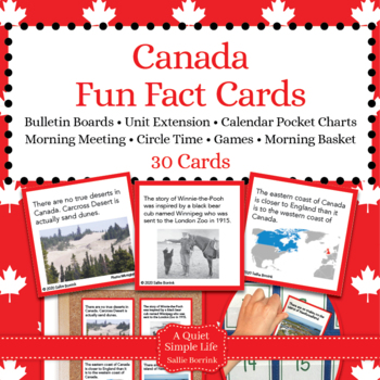 Canada Unit Activity - Fun Fact Cards for Games, Bulletin Board