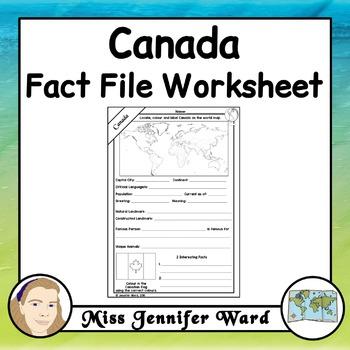 Canada Fact File Worksheet