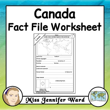 Canada Fact File Worksheet