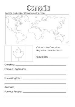 Canada Facts page