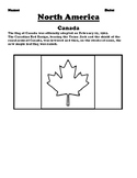 Canada Flag & Create Your Own Flag Worksheet