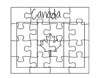 Canada Flag Puzzle Set