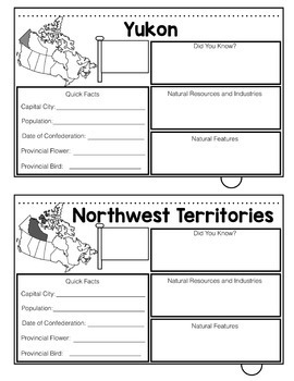 Canada - Provinces and Territories Flip Book